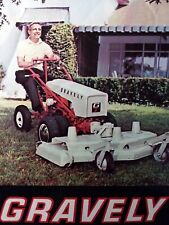 Gravely 1964 Super Walk-Behind Garden Tractor Color Sales Brochure Manual 6.6 hp