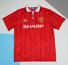 Vintage 1992 - 1994 Manchester United Home Football Shirt Jersey (size L)