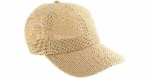 NEW J. CREW Woven Baseball Cap in Natural Adjustable OS