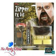 WEREWOLF ZIPPER FACE FX HALLOWEEN MAKEUP KIT Scary Horror Zip Face Effect 5609W