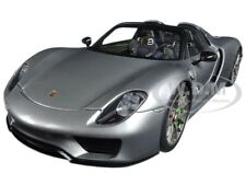 PORSCHE 918 SPYDER WEISSACH PACKAGE GT SILVER METALLIC 1/18 CAR BY AUTOART 77925