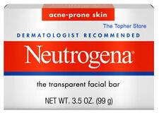 8 Neutrogena Acne Facial Cleansing Bar Soap, 3.5 oz Full Size, Fragrance Free