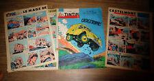 Couverture + 2 pages : Tintin 1962 : Citröen Camionnette 2cv