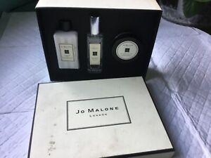 JO MALONE GIFT SET BLACKBERRY & BAY,ENGLISH PEAR & FREESIA,WOOD SAGE & SEA SALT