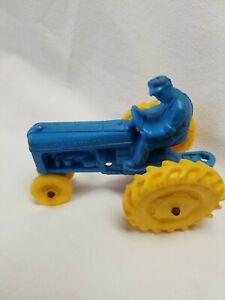 1950's Auburn Rubber Co. Blue Farm Toy Tractor