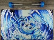 YGO rishula, Dragon of the Ice Barrier Mat TCG Playmat Free High Quality Tube