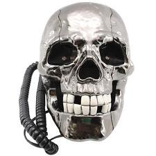 """Novedad """"intermitente Led Ojos"""" Rústico Calavera Alámbrico / Con Cable número de teléfono fijo"""