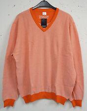 Lange Herren-Pullover aus Baumwolle mit Rundhals-Ausschnitt