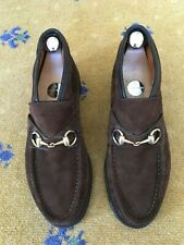 Gucci Mens Shoes Brown Suede Horsebit Loafers UK 5.5 US 6.5 EU 39.5 Booties