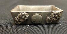 Vintage Chelsea Pewter Old Miniature Floral & Heart Design Dish Platter