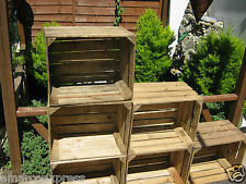 4 VINTAGE WOODEN APPLE CRATES STORAGE box FRUIT CRATES BOX SHABBY CHIC