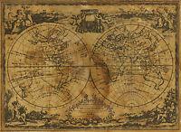 Vintage Carte 4 ZODIAC sphère GLOBE ATLAS Art Imprimer A4 A3 A2 A1