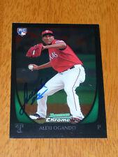 ALEXI OGANDO Texas Rangers Signed 2011 Bowman Chrome Card AUTO Autograph