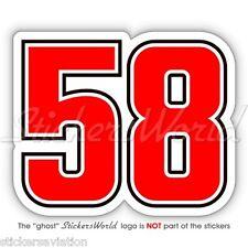 Marco Simoncelli 58 Moto Gp Racing Vinilo fahrradhelm etiqueta engomada, aufkleber 100mm