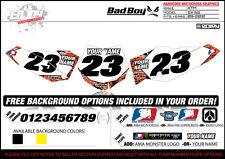 Bad Boy TEAM Motocross Number Plate Graphic 2009-2015 KTM 65 SX by ENJOY MFG