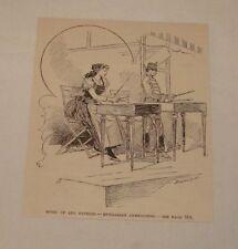 1890 magazine engraving ~ HUNGARIAN CYMBALIERS