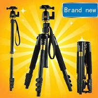 Professional Camera Tripod Monopod Ball Head Bag For Canon Nikon Sony Leica DSLR