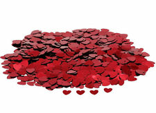 Red Hearts Confetti Wedding Anniversary Happy Birthday Party Table Decoration