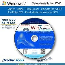 Windows 7 Neu-Installation oder Reparatur CD/DVD für Home Professional Ultimate