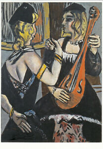 Postkarte: Max Beckmann - Kabarettistinnen / Musik / 1943