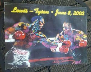 Original Mike Tyson + Lennox Lewis Boxing Program. 2002. Memphis. 77+ Pages.