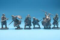 Tin toy saracens knights 6 figures soldier 40 mm exclusive for collection