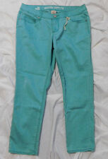 MOSSIMO SUPPLY Women's Juniors Green 5 pocket Colored Crop Ankle Jeans Size 11