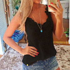 Fashion Women Lace Tops V Neck Camisole Sleeveless Tank Beach Blouse Shirt GIFT