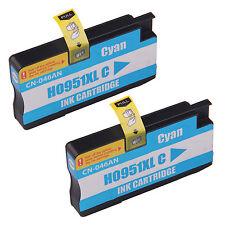 Reman ink Cartridge for HP 951XL Officejet Pro 8600 e, 8600 Plus (2 Cyan)