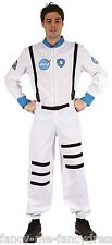 Mens White Space Astronaut Buzz Uniform Book Day Week Fancy Dress Costume Outfit