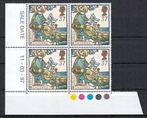 (84814) GB MNH Traffic Light Block 37p Missions of Faith 1997