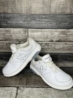 New Balance Womens 813 WW813WT White Running Shoes Lace Up Low Top Size 10.5 4E