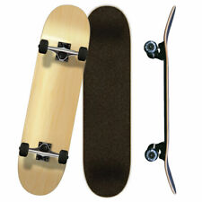 """Yocaher Blank Complete Skateboard 7.75"""" Skateboards - (Complete 7.75"""" Natural)"""