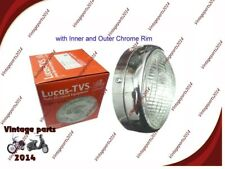 "GENUINE TVS 7"" LUCAS HEAD LAMP HEAD LIGHT for Royal Enfield all models"
