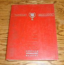 Original 1990 Cadillac Fleetwood Brougham Shop Service Manual 90