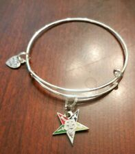 O E S Star  with enamel colors  Bangle Bracelet-silver plate #42508