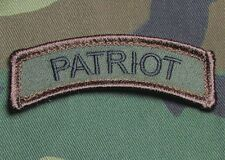 PATRIOT TAB US ARMY USA MILITARY TACTICAL ISAF OAF FOREST VELCRO MORALE PATCH