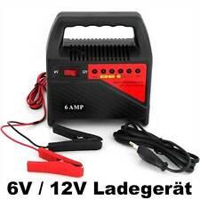 6V 12V Batterieladegerät KFZ PKW Motorrad Caravan Boot Wohnmobil Werkstatt