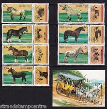 More details for kampuchea - 1989 horses - u/m - sg 1008-14 + ms1015