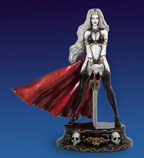 CS MOORE BRIAN PULIO´S ROYAL LADY DEATH WHITE FAUX BRONZE EDITION RESIN STATUE.