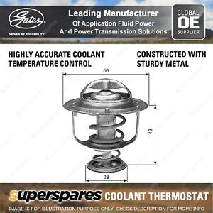 Gates Coolant Thermostat + Gaskets & Seals for Toyota Camry ACV40 ACV36 2AZ-FE