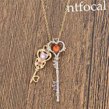 Sailor Moon Anniversary Key Pendant Necklace Crystal Metal Cosplay Decor