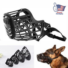 Large Dogs Muzzle Pitbull Metal Mask Wire Basket Pit Bull Adjustable Straps