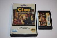 Clue Sega Genesis Video Game Cart w/ Box Only