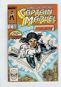 CAPTAIN MARVEL #1 (1989) Monica Rambeau VF Giant-Sized Special 1st Solo!