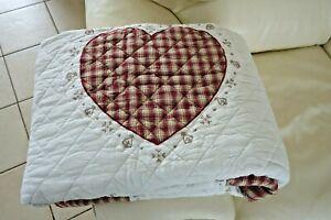 Shabby Tagesdecke Quilt Bett Decke Sessel Überwurf 180 x 260 cm Nr Q.180.060 NEU