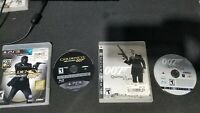 PS3 2x Game Lot - Goldeneye 007 Reloaded & Quantum of Solace - Tested