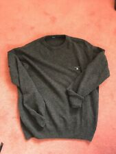Gant Mens Brown Wool Jumper Size Large
