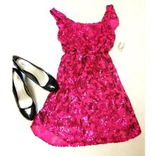 Pink Sequin Cocktail Party Girl Dress Halloween Costume (Women Size S-M)