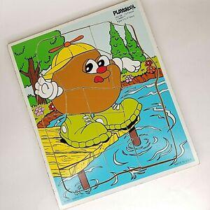 1985 PLAYSKOOL Lumpy Swimming 252 - 09   13 Piece Wooden Puzzle